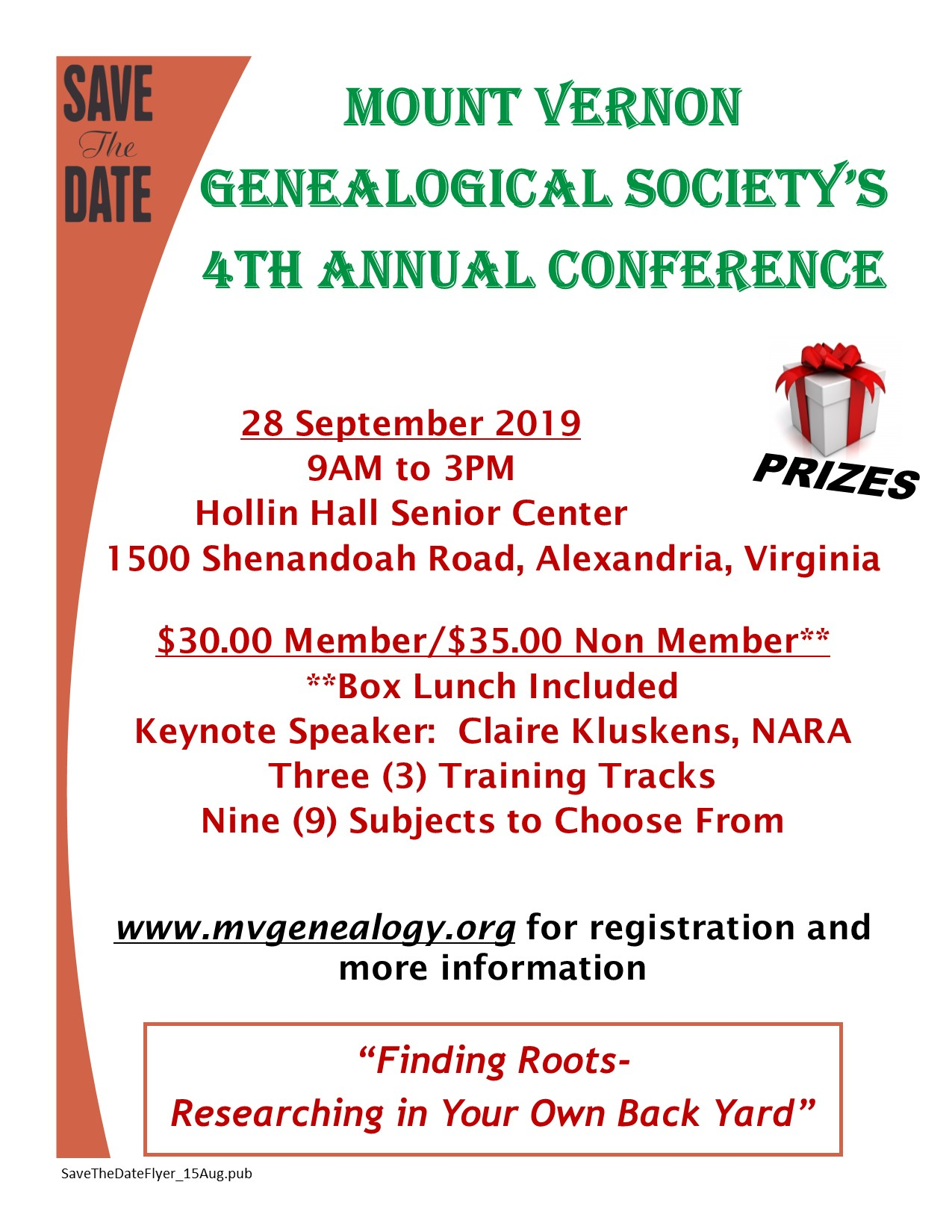 MVGS 4th Annual Conference